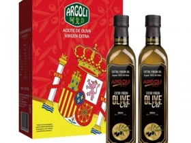 西班牙进口橄榄油500ml*2瓶装,阿戈力特级初榨橄榄油礼盒装郑州总代理