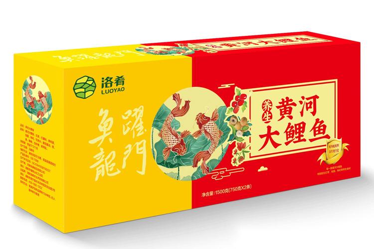 洛肴黄河大鲤鱼750g*2只礼盒,郑州黄河大鲤鱼厂家直销